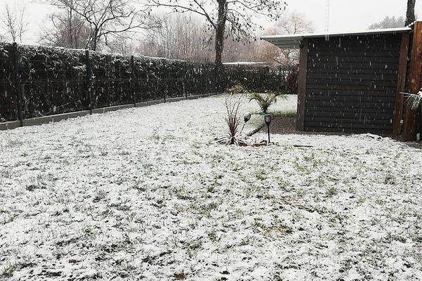Neige à Ohain dans l'Avesnois.