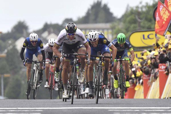 Lors du dernier passage du Tour de France en Normandie en 2016, Peter Sagan s'était imposé dans un sprint de puncheurs à Cherbourg devant Julian Alaphilippe.