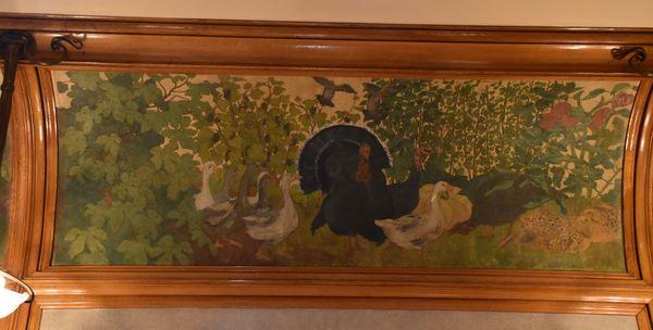 Peinture dans la salle à manger de la Villa Majorelle : tout ce qui s'y trouve se mange....
