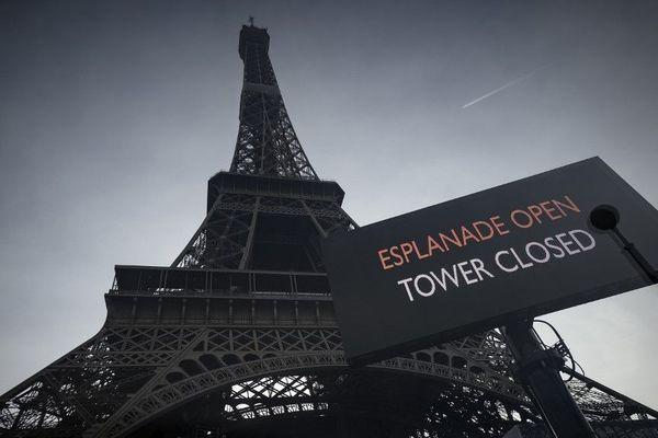 La Tour Eiffel est fermée ce vendredi 24 janvier à cause de la grève contre la réforme des retraites.
