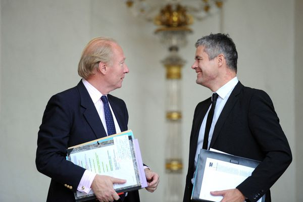 Brice Hortefeux et Laurent Wauquiez, ici photographiés en 2010, ont été ministres sous le quinquennat de Nicolas Sarkozy.