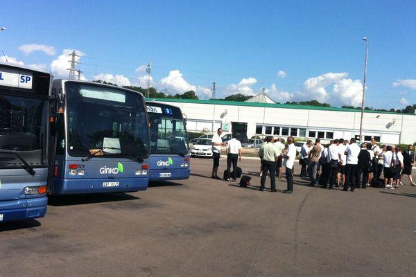 """Les bus """"Ginko"""" à Besançon"""
