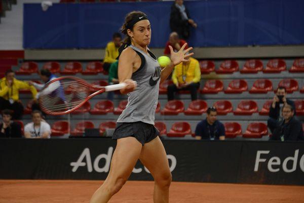 Caroline Garcia (équipe de France) en plein entrainement