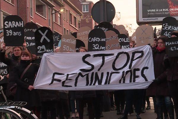 Mobilisation contre les féminicides à Amiens le 23 novembre 2019