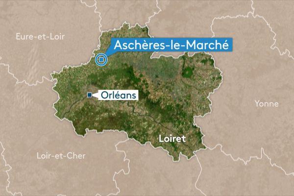 Aschères-le-Marché dans le Loiret. C'est là que se fera la mise en service de la première ferme à vent de CEZ en France.