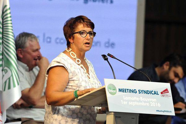 Les membres du bureau de la FNSEA, réunis ce mardi 21 février 2017, ont désigné Christiane Lambert à la présidence du syndicat jusqu'au 13 avril prochain.