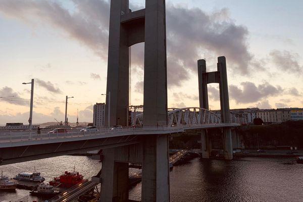 Le pont de Recouvrance à Brest, l'un des emblèmes de la ville