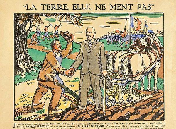 Une affiche de propagande pétainiste imprimée à Limoges