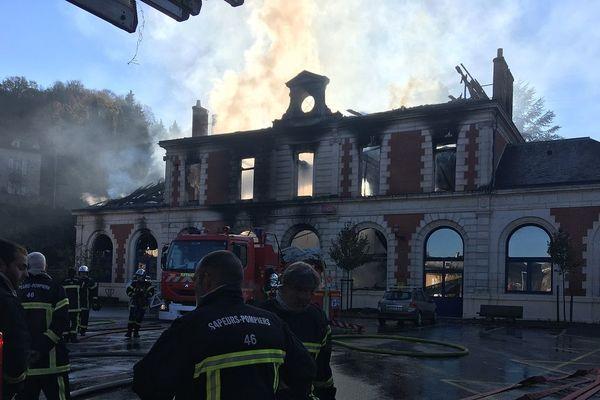 La gare de Figeac détruite par un violent incendie