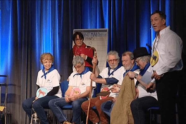 Un des moments forts des 24e Gallèseries qui se déroulent à Saint-Malo : les championnats du monde de joutes contées en gallo