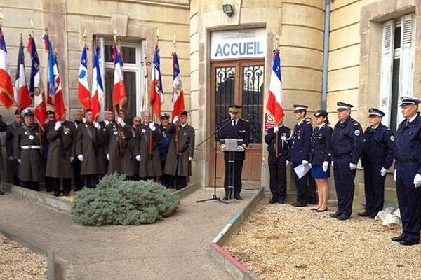 Carcassonne - hommage aux 3 policiers tués dans l'attentat djihadiste à Charlie hebdo - 13 janvier 2015.