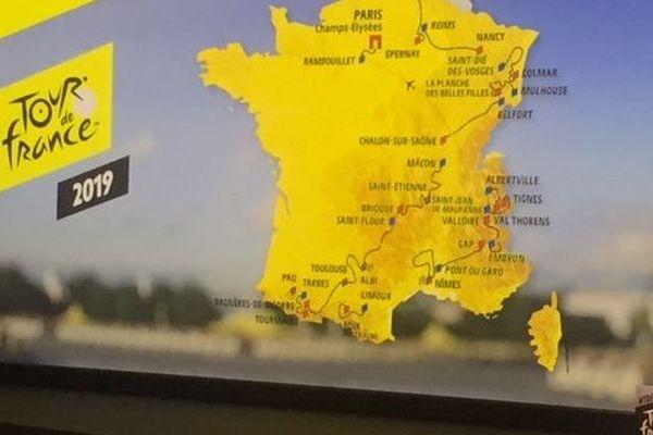 Présentation à Paris du parcours du Tour de France 2019, jeudi 25 octobre 2018, par Christian Prudhomme, directeur de l'événement.