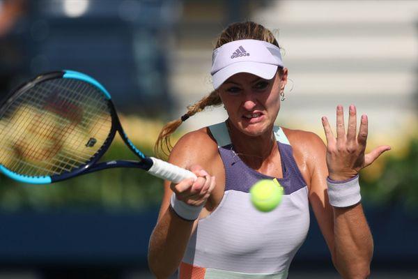 Kristina Mladenovic au tournoi WTA de Dubai en février 2020.