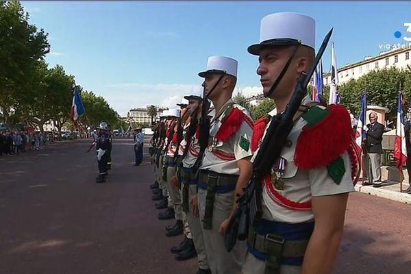 Ce dimanche 14 juillet a été marqué par les traditionnels défilés. À Bastia comme à Ajaccio, associations d'anciens combattants, autorités civiles et militaires étaient présentes.