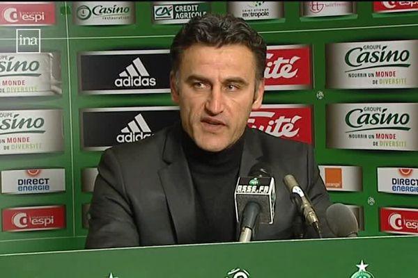 Christophe Galtier en 2009, à son arrivée au club.