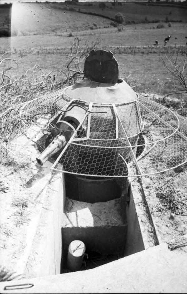 Une tourelle semblable à celle du soldat Beaulieux photographiée par les Allemands en mai 1940.