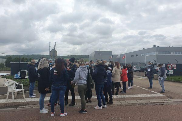 Soixante-dix salariés des laboratoires Macors, à Auxerre (Yonne), sont en grève depuis le mardi 18 mai 2021.