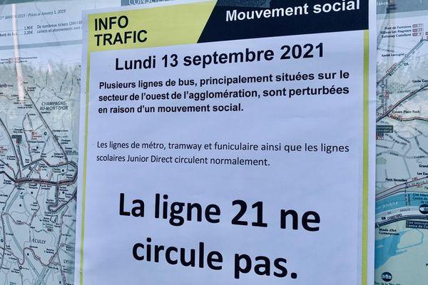 Ouest Lyonnais : plusieurs lignes de bus touchées par une grève des conducteurs TCL - 13/09/2021