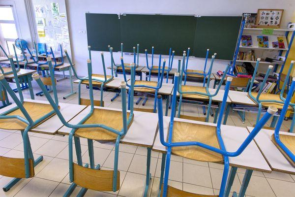 Photo d'illustration. Classe fermée en Indre-et-Loire