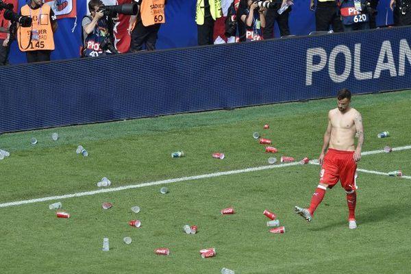 Le Suisse Haris Seferovic après la défaite de la Nati face à la Pologne en 8e de finale de l'Euro 2016 - 25 juin 2016