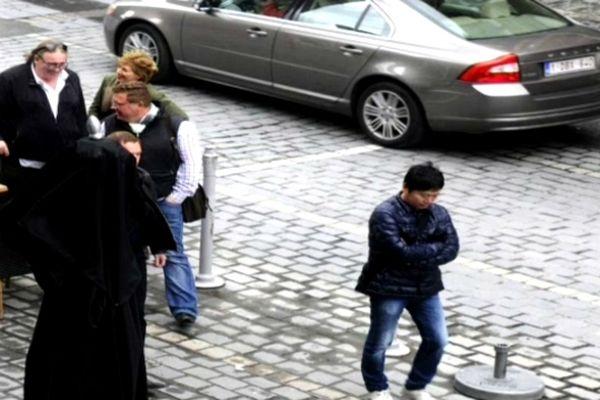 Gerard Depardieu en visite d'affaires lundi à Tournai