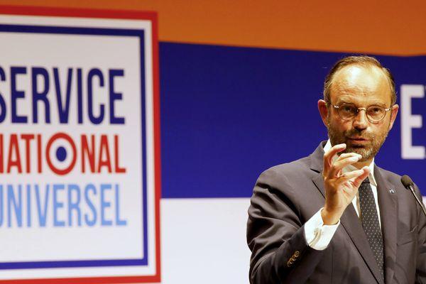 Déplacement du Premier ministre Edouard Philippe a Avignon à la Fabrika pour lancer le cycle des concertations territoriales sur le service national universel (SNU) le 13 septembre 2018.