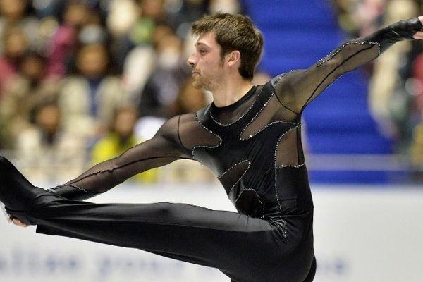 Brian Joubert lors du programme court des championnats du monde au Japon en 2013.