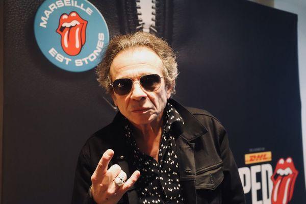Philippe Manoeuvre à Marseille le 15 avril pour la présentation de l'expo Unzipped des Rolling Stones.