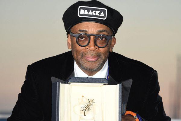 Cannes, le 19 mai 2018 : Spike Lee, récompensé par le Grand Prix du Jury pour son film BlacKkKlansman à l'issue du 71e Festival de Cannes.