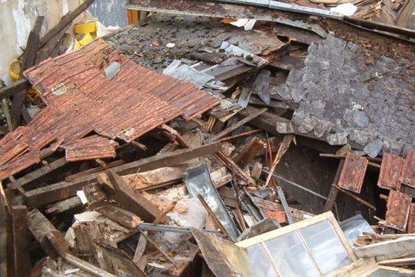 Une maison effondrée, 25 rue du Canton à Tulle, 7 juillet 2014