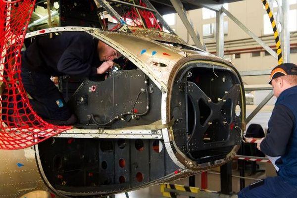 Un atelier de Airbus Helicopters, à Marignane