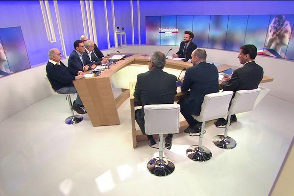 Les sept candidats à la mairie de Creil débattent sur le plateau de France 3 Picardie mercredi 11 mars 2020