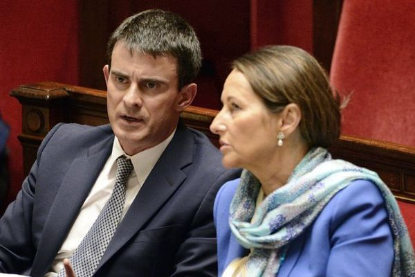 Ségolène Royal et Manuel Valls à l'Assemblée nationale le 8 avril 2014