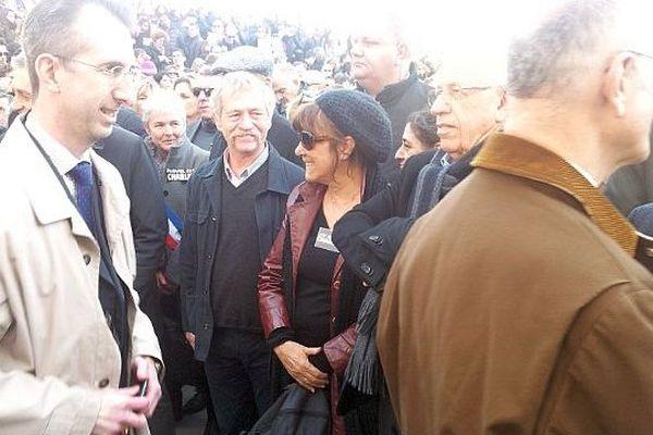 Montpellier - José Bové dans le cortège - 11 janvier 2015.