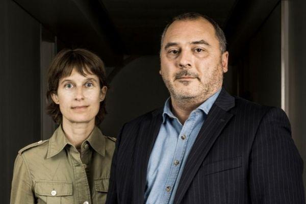 Henrique Vannier aux côtés d'Ondine Millot, auteure du livre.