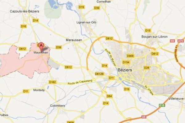 Carte Google Maureilhan (Hérault)