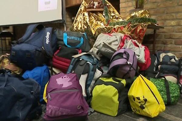 Les sacs préparés par les lycéens ont été remis au Samu social.