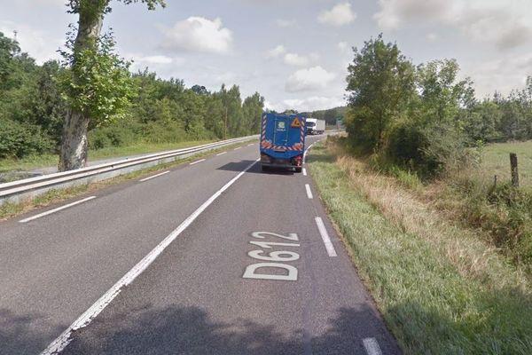 Sur l'axe Albi-Castres, entre Saint-Germier et Peyregoux, la D612 est coupée pour être élargie à 3 voies.