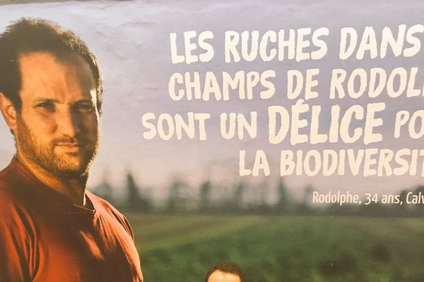 Campagne d'affichage dans le métro parisien des jeunes agriculteurs