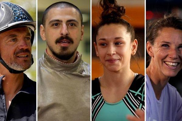 5 athlètes qui se préparent pour les jeux olympiques et paralympiques.