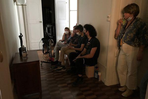 La fille et le garçon de Jean- Marie Besset en tournage à Limoux (11)