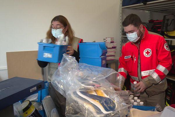 Les bénévoles de la Croix-Rouge de Gironde.