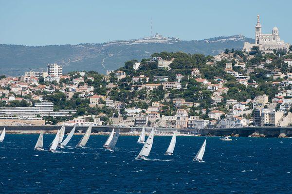 Une régate à Marseille en septembre 2015.