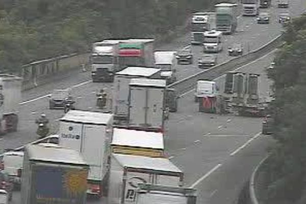 L'accident a été filmé par les caméras de l'autoroute A7