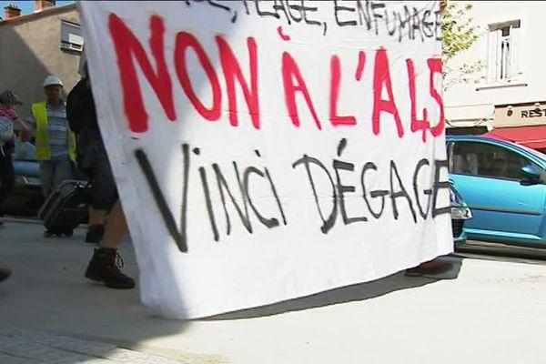 Lors de la marche des opposants, le 29/06/2017