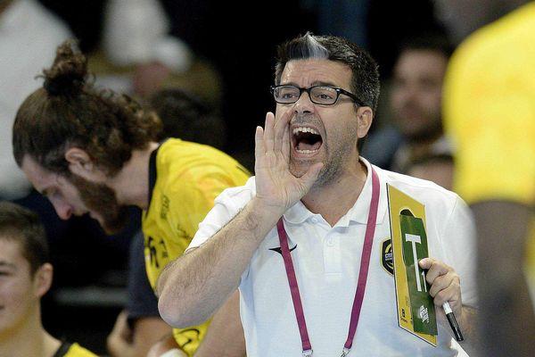 Erick Mathé, entraîneur du Chambéry Savoie Mont Blanc Handball.