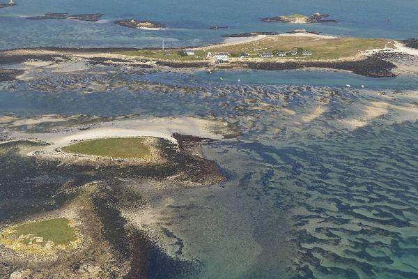 Les Iles Glénan à marée basse par coefficient de 115 - Le 21/02/2015