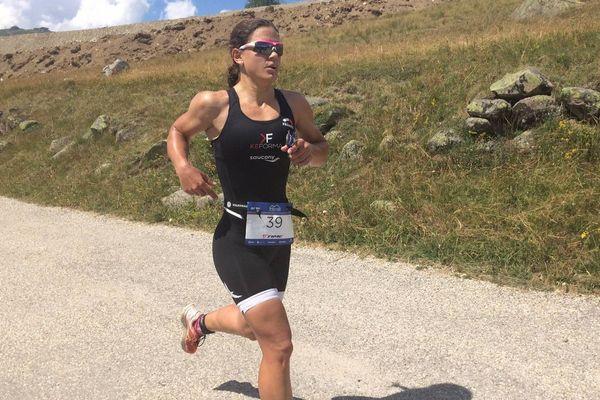 Emma Bilham (Suisse), 1ère femme triathlon Alpe d'Huez 2018