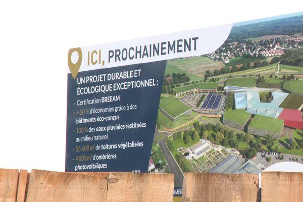 A Saint-Genis-Pouilly, dans le pays de Gex, un centre commercial doit sortir de terre mais il est loin de faire l'unanimité... octobre 2020