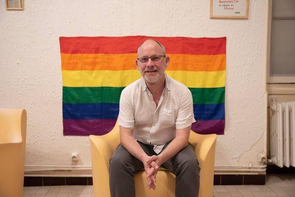 Le référent du groupe Action Gay et Lesbien Loiret, Christophe Desportes-Guilloux